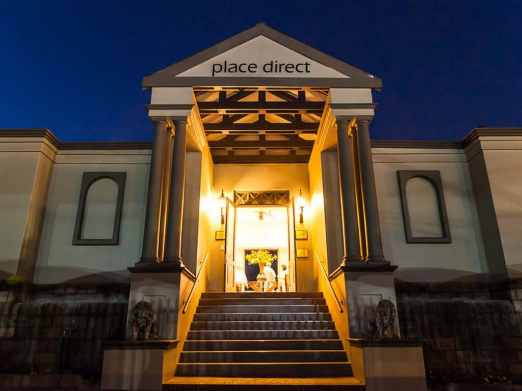 The Entrance to Our Company Place Direct - Our prestigious furniure showroom is located in the heart of Rivonia, Sandton in Johannesburg.