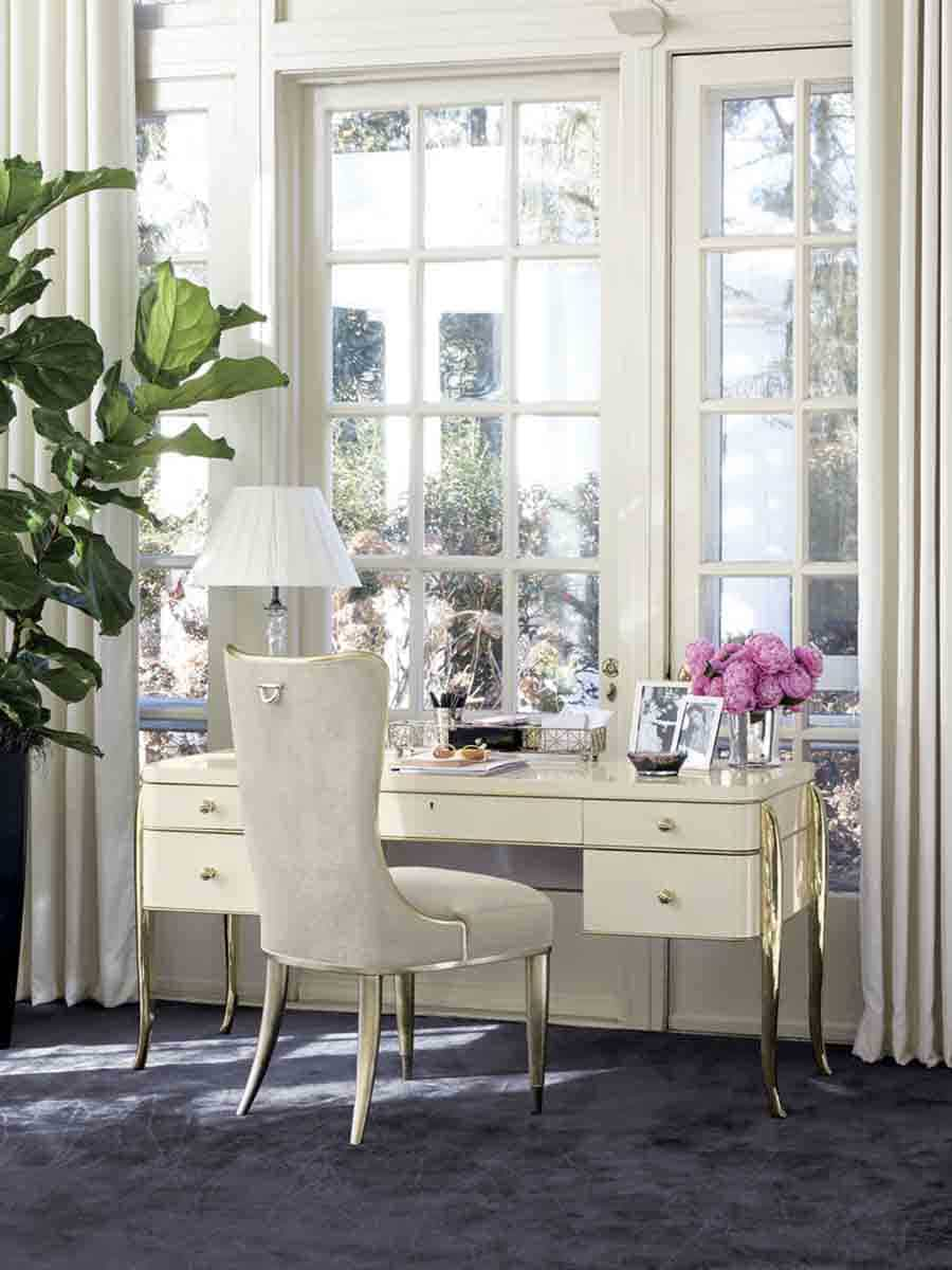 "Caracole Signature Collection - Contemporary Furniture Available at Place Direct - Items in picture: ""The Sophisticates Chair"" and ""The Parisian Desk"""