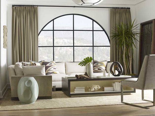 "Theodore Alexander Michael Berman Collection - Contemporary Furniture Available at Place Direct - Items in picture: ""Mulholland"" Coffee Table and ""Madre"" Chair"