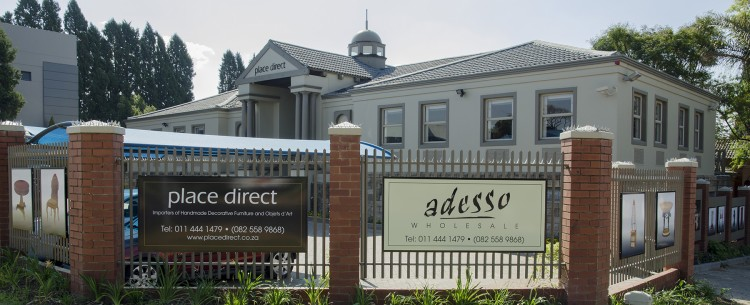 Place Direct and Adesso Wholesale Building - Our prestigious furniure showroom is located in the heart of Rivonia, Sandton in Johannesburg.
