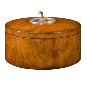 A Pollard Burl Circular Box