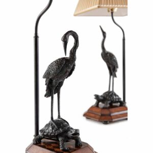 Meiji Cranes Table Lamps