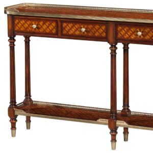 Burl Lattice Console Table