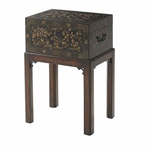 Floral Painted Box Accent Table
