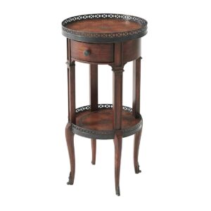 Walnut Circle Accent Table