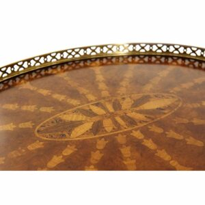 Radiating Parquetry Accent Table