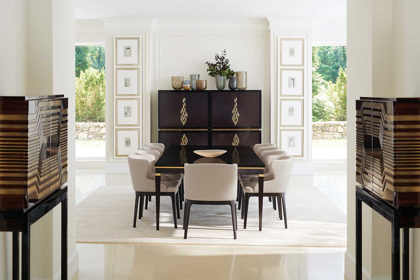Dining room contemporary luxury designer modern exclusive handcrafted furniture sandton johannesburg