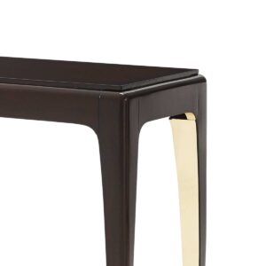 Golden Curve Console Table