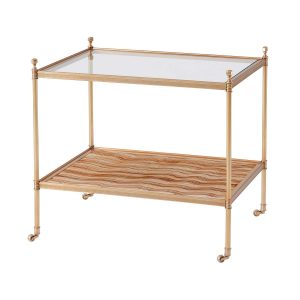 Evie Two Tiered Brass Side Table