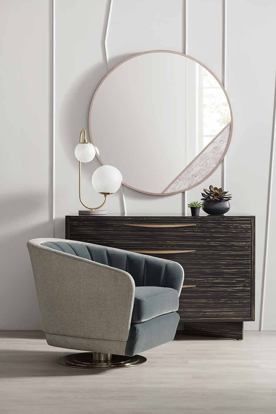 Concentric Swivel Chair Modern Edge Collection Living Areas | Contemporary Modern Luxury Exclusive Designer Handcrafted Furniture | Sandton Johannesburg