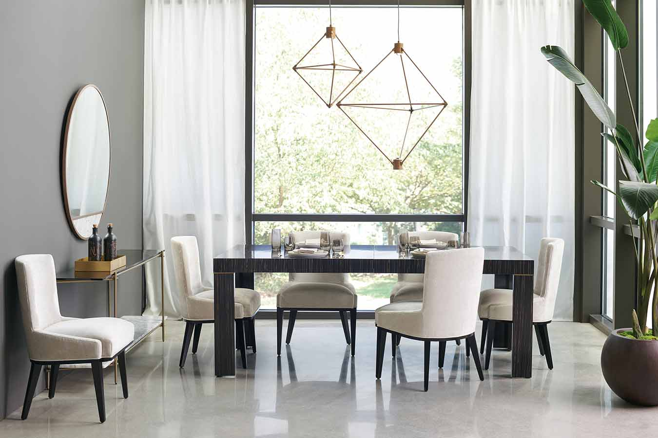 Modern Edge Collection Dining Room | Contemporary Modern Luxury Exclusive Designer Handcrafted Furniture | Sandton Johannesburg