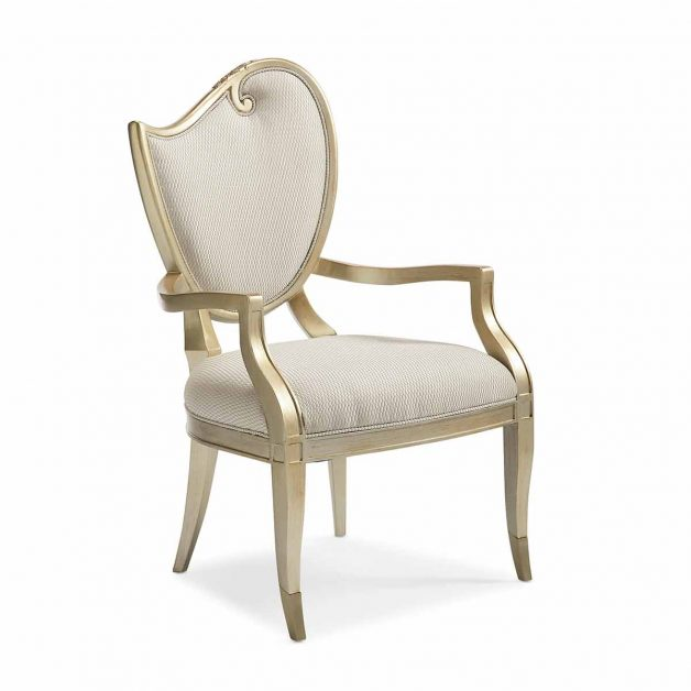 Fontainebleau Dining Arm Chair | Luxury Transitional Exclusive Furniture