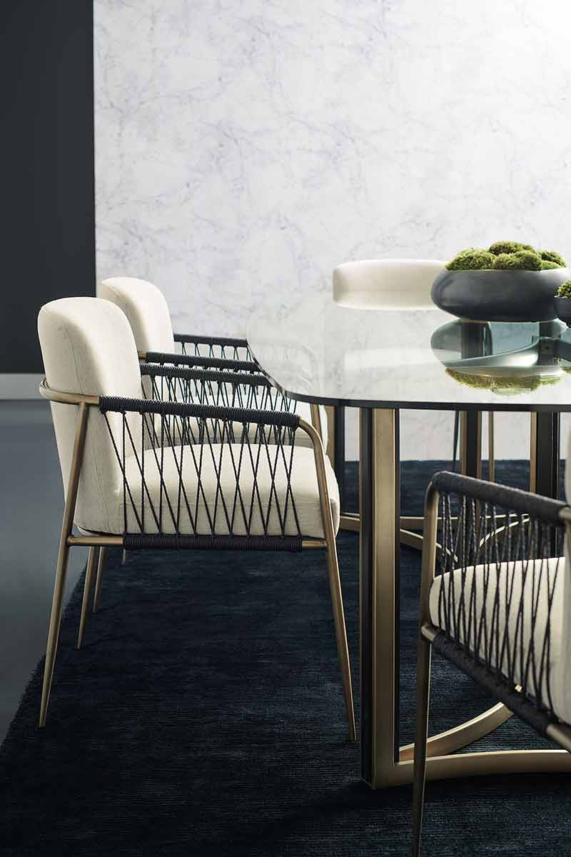 Remix Woven Dining Chair | Dining Room | Contemporary Modern Luxury Exclusive Elegant Designer Handcrafted Furniture