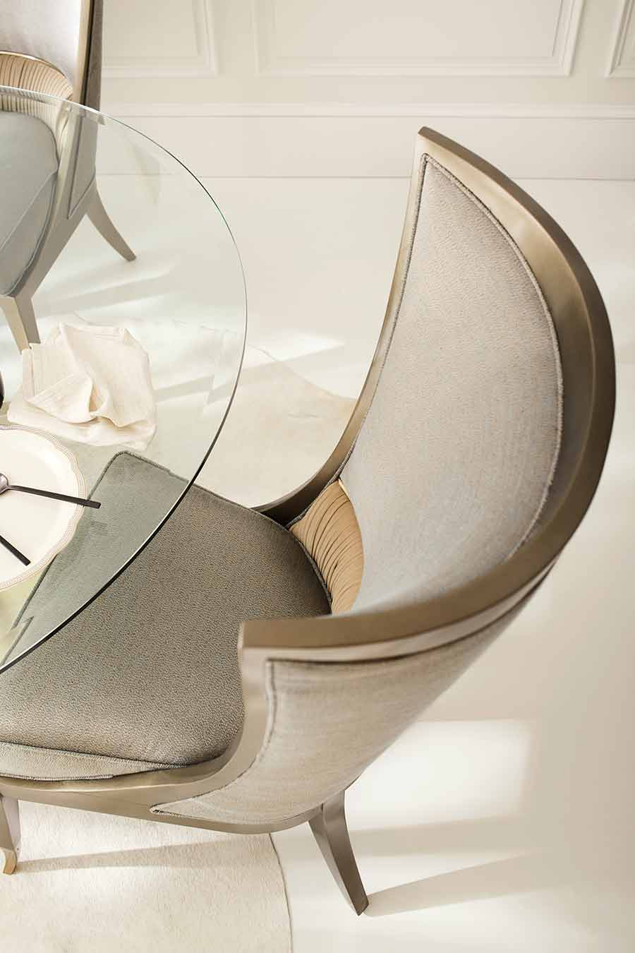 Collar Up Chair | Dining Room | Contemporary Modern Luxury Exclusive Elegant Designer Handcrafted Furniture