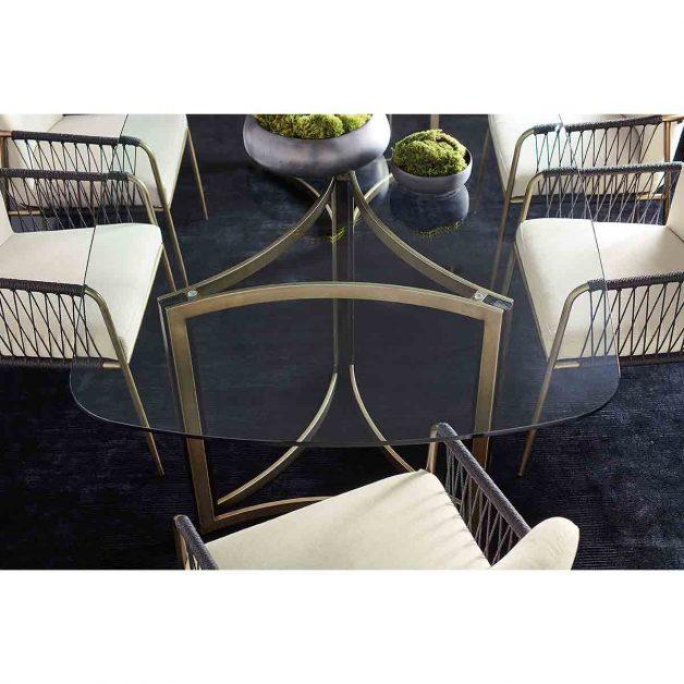 Remix Ovoid Glass Dining Table   Modern Luxury Exclusive Elegant Designer Furniture
