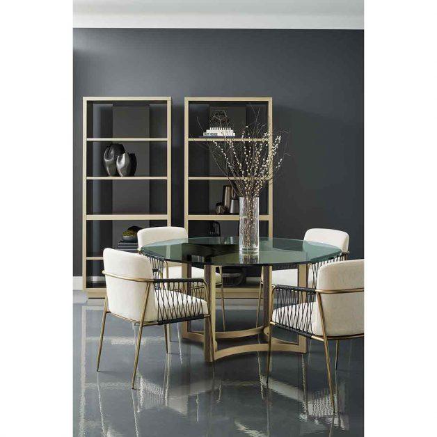 Remix Round Glass Dining Table   Modern Luxury Exclusive Elegant Designer Furniture