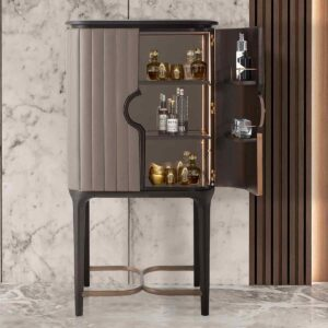 Billowy Bar Cabinet