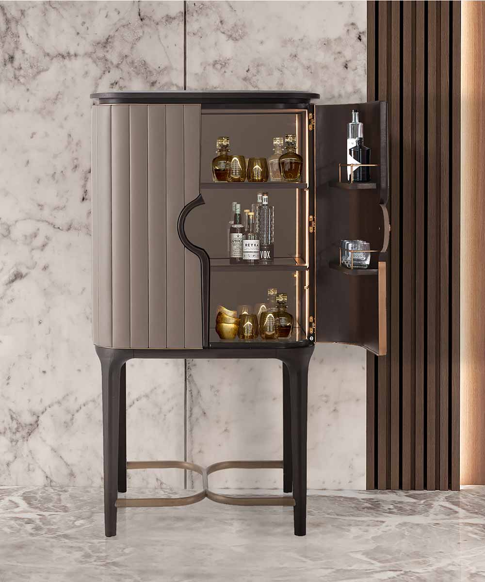 Billowy Bar Cabinet - Steve Leung Collection | Contemporary Luxury Exclusive Designer Modern Handcrafted Furniture | Sandton Johannesburg