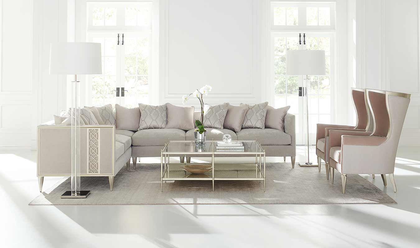 Fret Knot Sectional Sofa | Living Room | Contemporary Modern Luxury Exclusive Elegant Designer Handcrafted Furniture