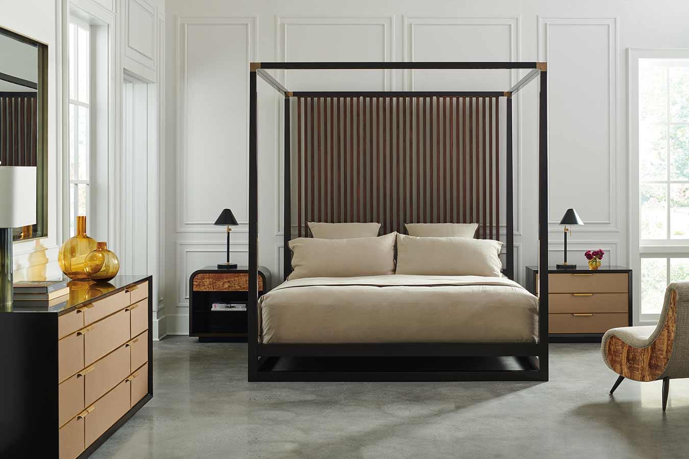 Pinstripe Bedroom | Place Direct | Contemporary Luxury Exclusive Designer Modern High End Furniture | Sandton Johannesburg