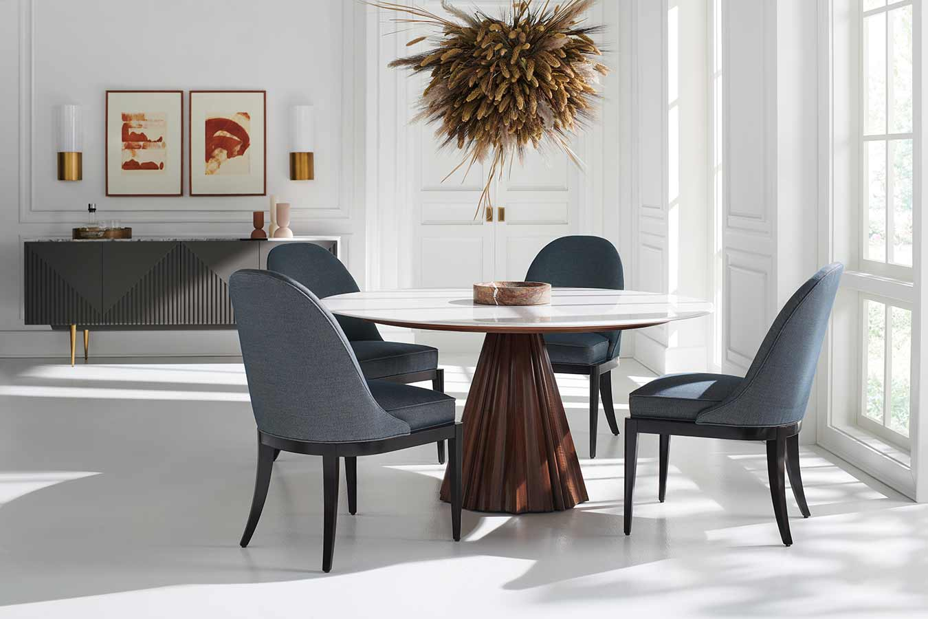 All Natural Dining Room Interior | Contemporary Luxury Exclusive Designer Modern Classic Furniture