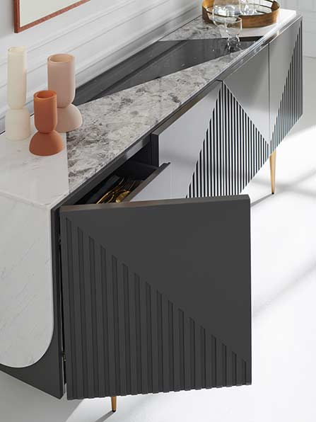 Over The Edge Credenza   Contemporary Luxury Exclusive Designer Modern Furniture