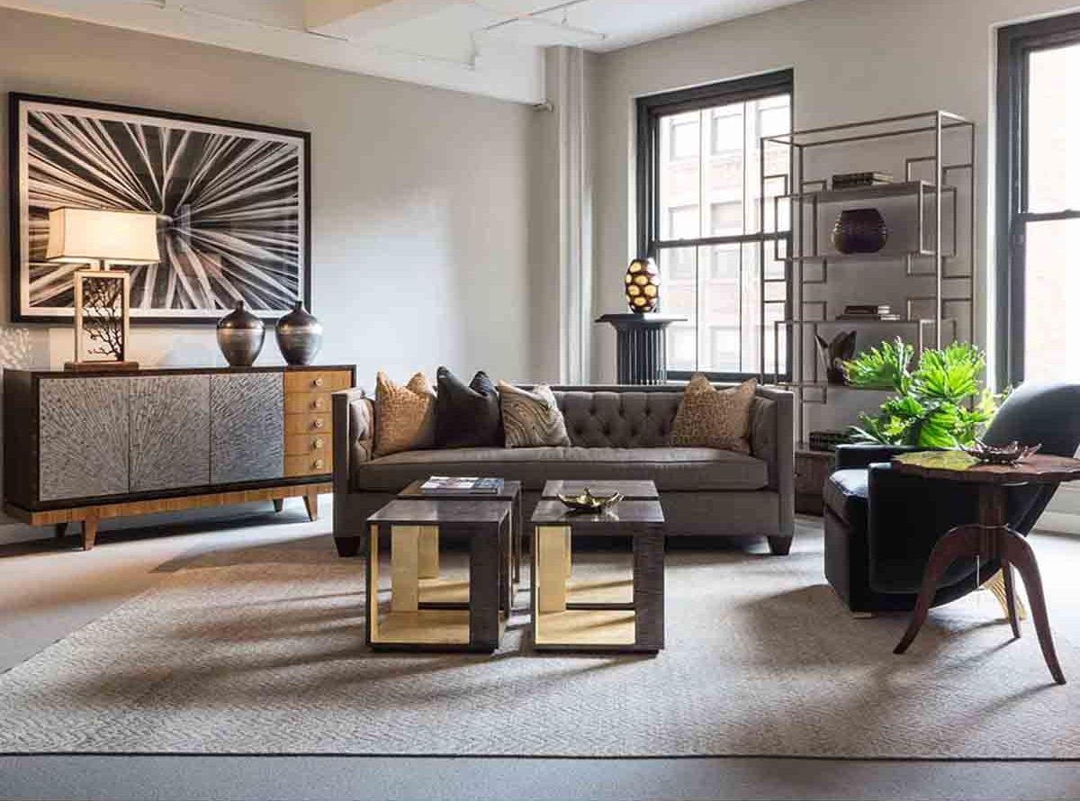 Luxury Contemporary Transitional Living Room Furniture